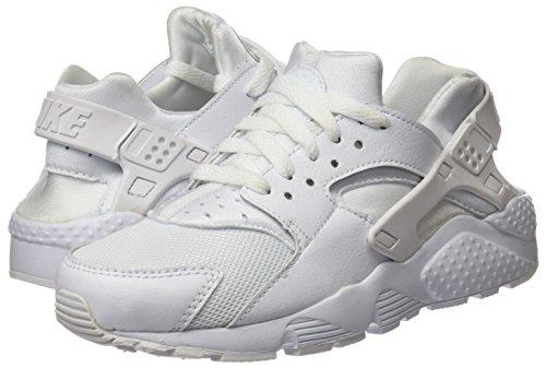 Nike Unisex Huarache Run (GS) Shoe Sneakers, Weiß - 7