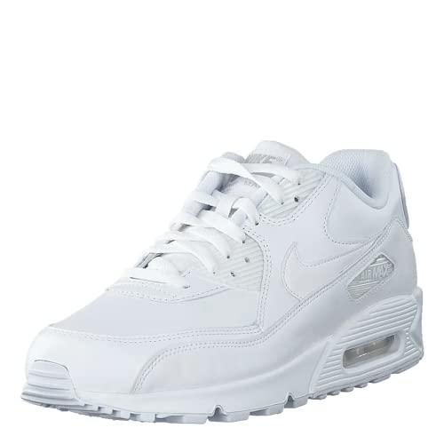 Nike Air Max 90 Leather Herren Sneakers, weiß