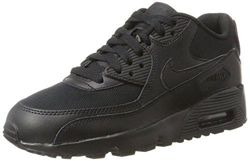 Nike Unisex Air Max 90 Mesh (GS), Schwarz
