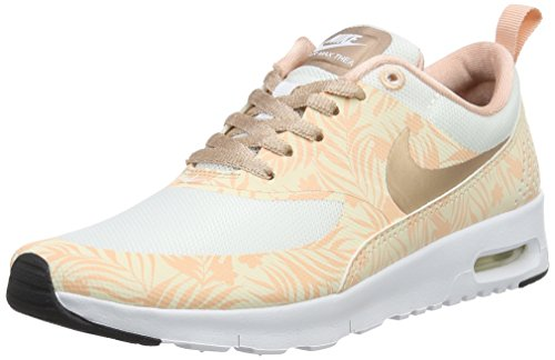 Nike Unisex-Kinder Air Max Thea Print (GS) Sneakers, Weiß