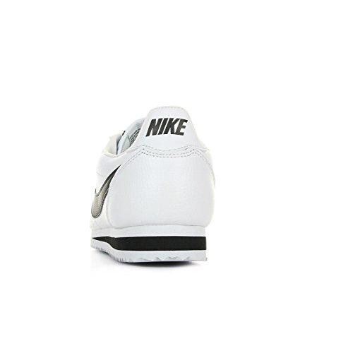 Nike Herren Classic Cortez Leather Laufschuhe, Weiß / Schwarz - 4