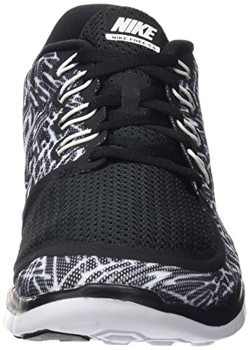 Nike Damen Free 5.0 Print Laufschuhe, Schwarz - 4