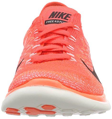 Nike Damen Free 4.0 Flyknit Laufschuhe, Orange - 4