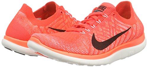 Nike Damen Free 4.0 Flyknit Laufschuhe, Orange - 5