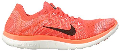Nike Damen Free 4.0 Flyknit Laufschuhe, Orange - 6