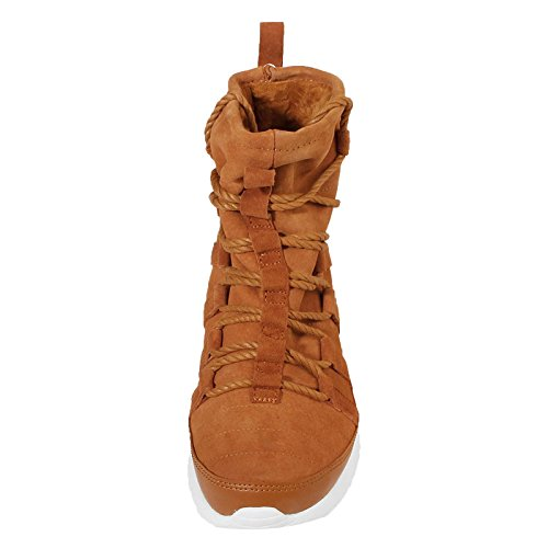 NIKE Damen Schuhe Roshe One Hi Suede braun - 2