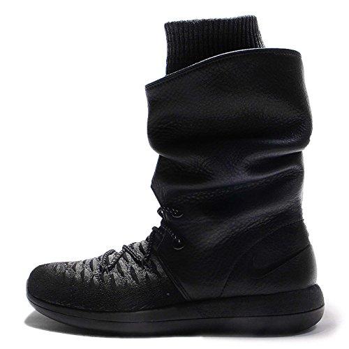 Nike Roshe Two Flyknit Hi Damenschuh schwarz
