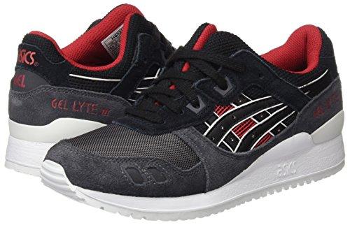 Asics Unisex-Erwachsene Gel-Lyte Iii Sneakers, Schwarz - 5