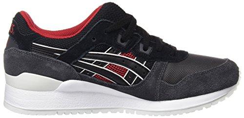 Asics Unisex-Erwachsene Gel-Lyte Iii Sneakers, Schwarz - 6