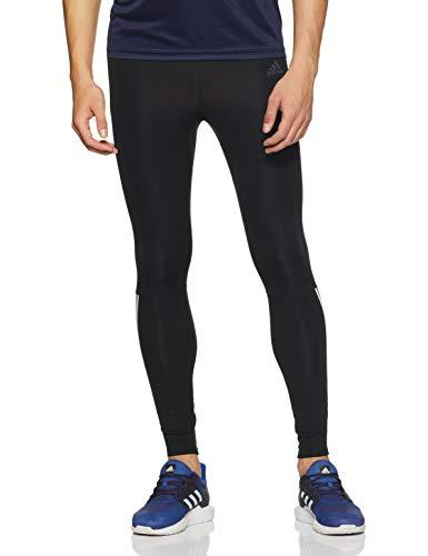 adidas Herren Run 3-Streifen Long Tights, Black/White, L