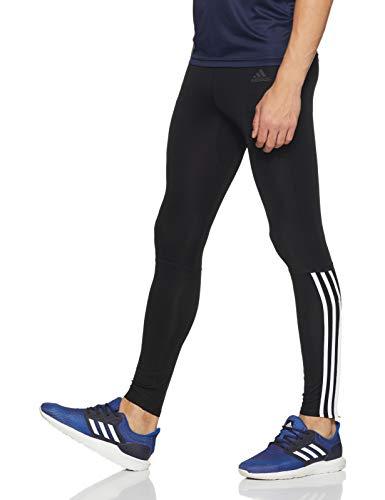 adidas Herren Run 3-Streifen Long Tights, Black/White, L - 5