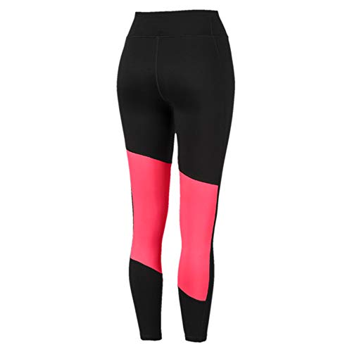 PUMA Damen Logo 7/8 Graphic Tight Leggings, Black-Pink Alert, XL - 2