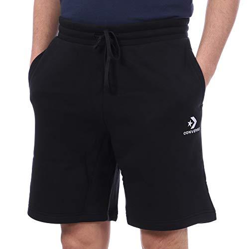 Converse Star Chevron EMB Short Black - Herren-Shorts, schwarz (schwarz)