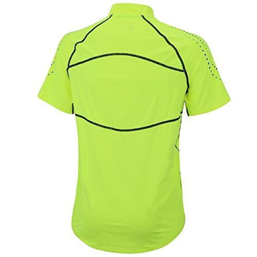 Airtracks FUNKTIONS-LAUFSET – Laufhose KURZ NEON/Running Hose + Laufshirt Kurzarm PRO Team/Running T-Shirt – neon-schwarz – L - 5