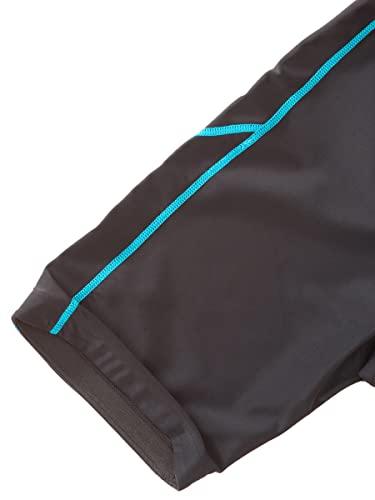 Ultrasport Damen Laufhose, Kurz, black turquioise, XL, 10284 - 5